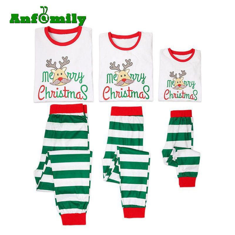 Merry Christmas Comfy Family Striped Pajamas