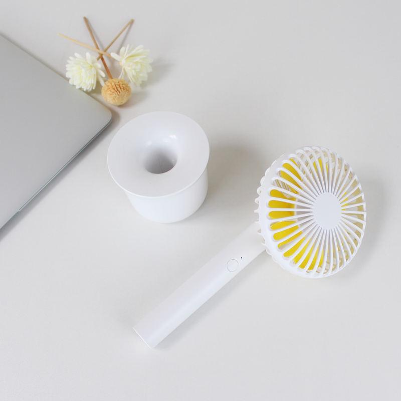 Custom Logo OEM Hand Held USN White 5V DC High Speed Mini Plastic Hand Fan