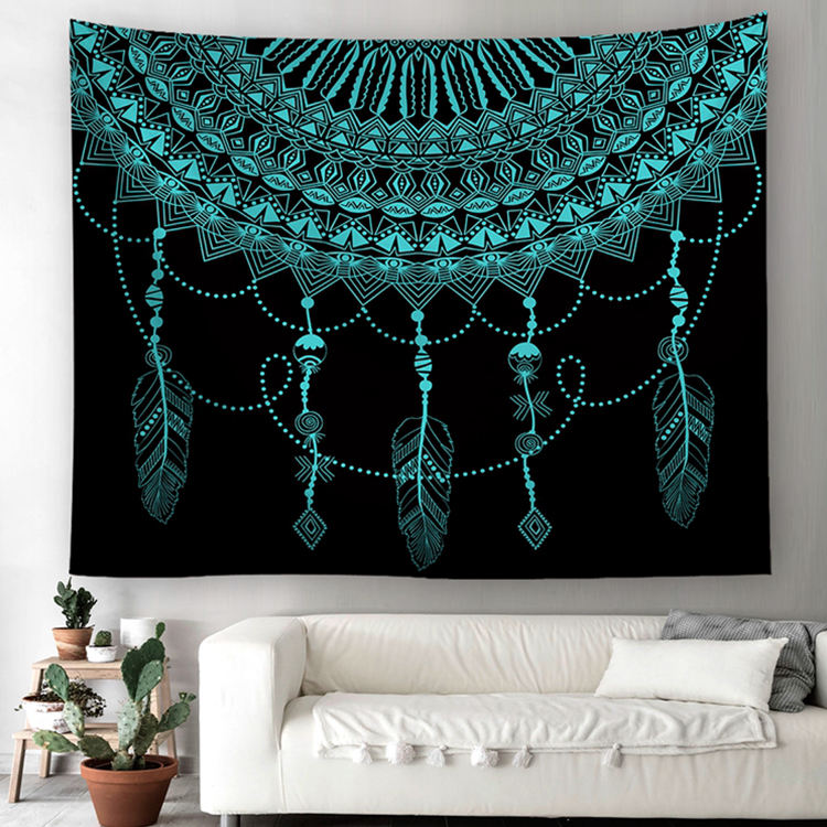 Customized Designs Supported 100%Polyester Wall Decor Wall Hanging Indian Mandala Tapestry