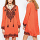 New fashion design embroidered dubai kaftan dress