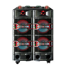 new professional active stage power speaker with color light &blue tooth