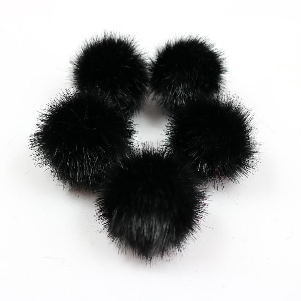 Factory direct faux mink fur pom pom ball 4 cm clothing shoes and hats accessories small size Mink/faux fur ball