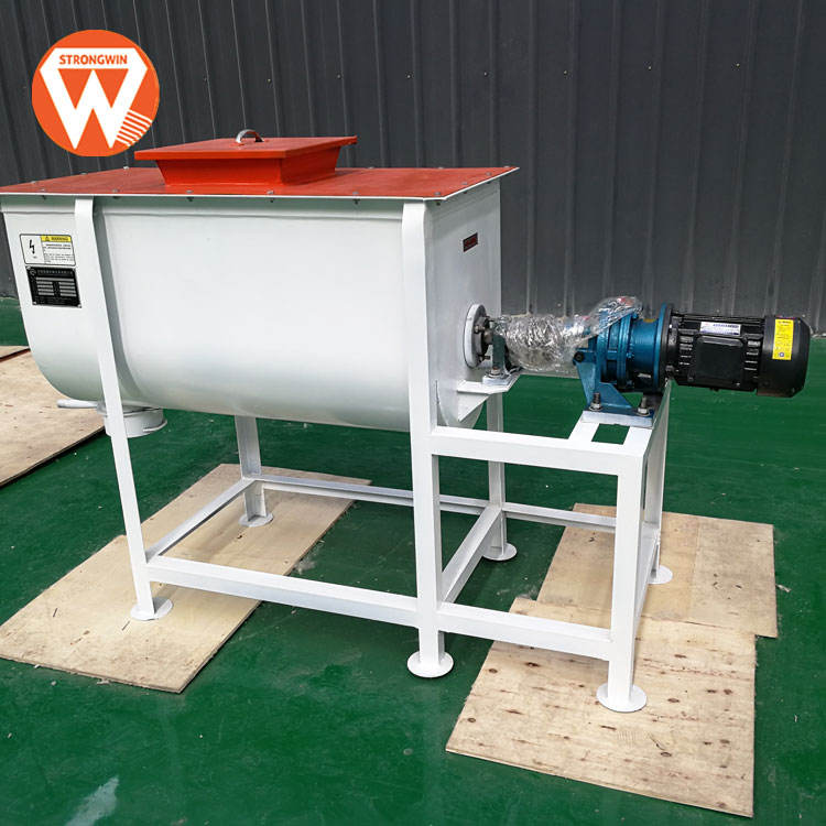Hand feed power mixer machine for poultry feed