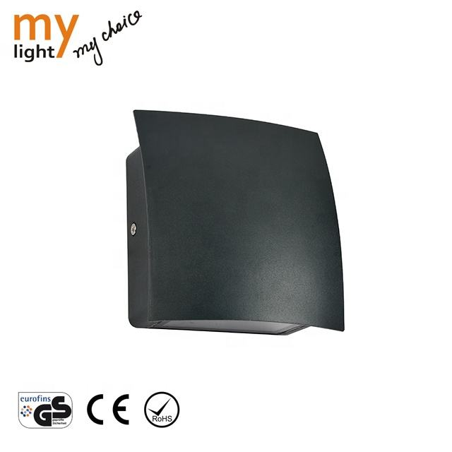 6W Waterproof Outdoor Wall Light / garden wall lamp Aluminum 3000-6000K dark grey