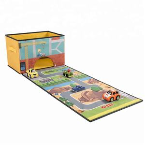 Opvouwbare Baby Opslag Speelgoed Doos Met Roll Out Play Mat