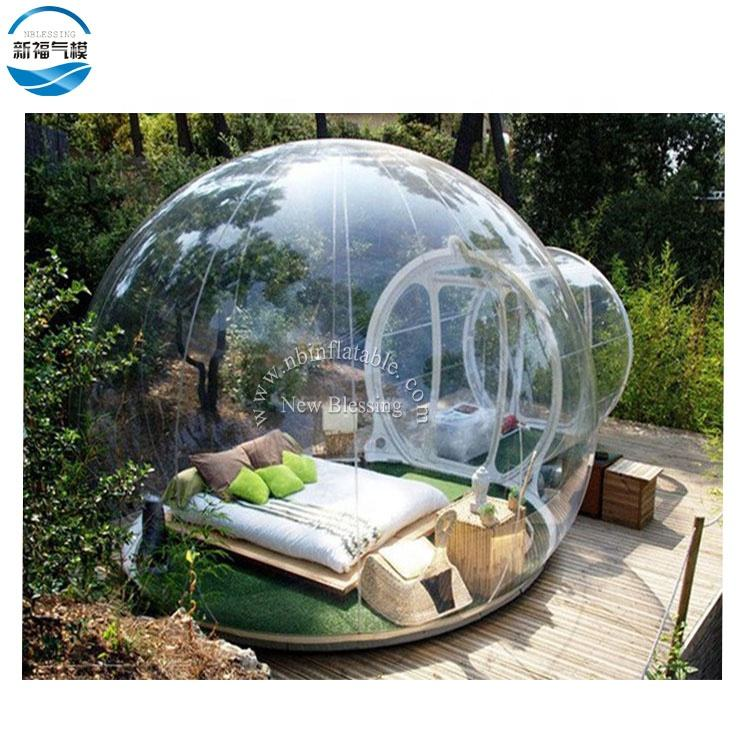 Inflatable Clear Camping Bubble Tent Customized Waterproof Outdoor Tent