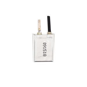 High quality rechargeable Ultra small 3.7V 9mAh 091518 lithium polymer battery