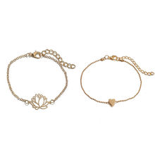 Fashion Gold Plated Multi Lotus Fancy Anklet for Women, Gold Anklet Designs