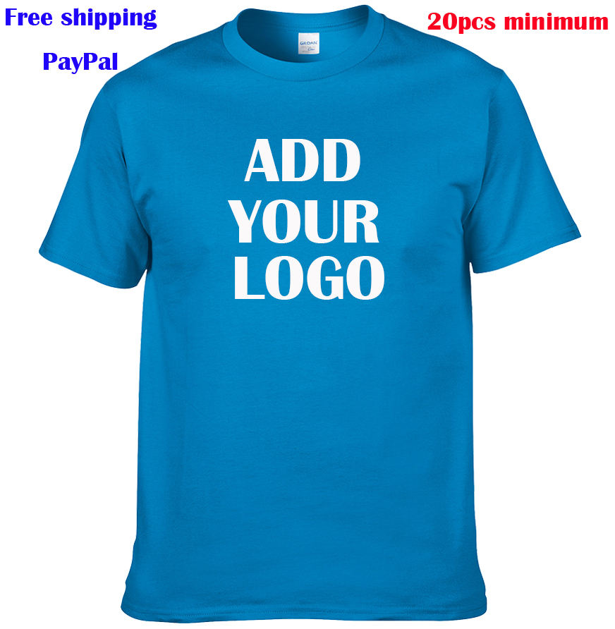 Free shipping free screen print MOQ 20 개 mixed 면 unisex 100% 면 t shirts custom printing