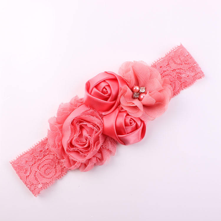 Pabrik Grosir Anak-anak Bayi Headband, bayi flower hair band, anak colorful flower hair band A561