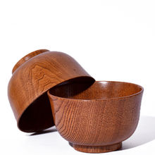 Rice Soup Wooden Bowl Bamboo