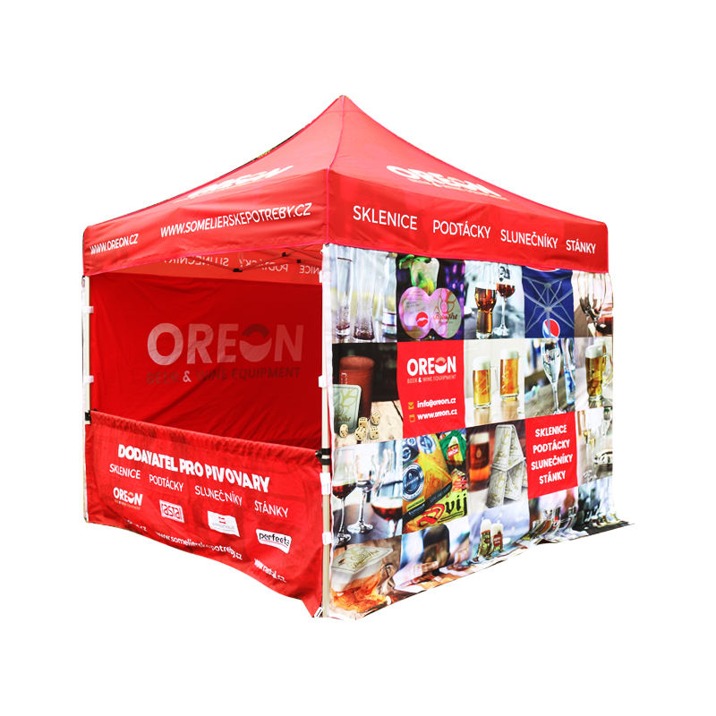 custom canopy tents, 600D, custom color logo and colors, trade show tent