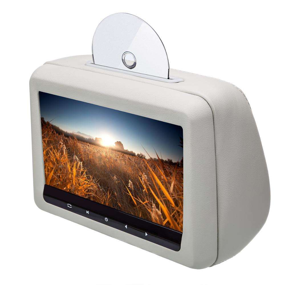 Car headrest dvd 10.1 inch with 1080P USB SD MP5 FM IR transmitter 32bit wireless games