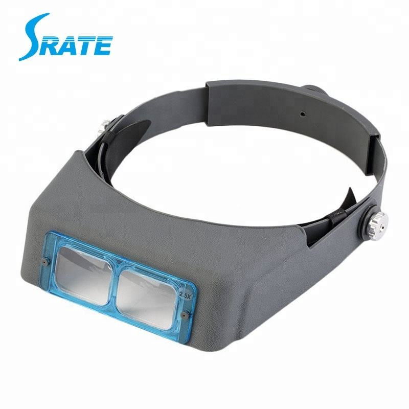 MG81007-B 1.5X 2X 2.5X 3.5X Optivisor Adjustable Headband Magnifier