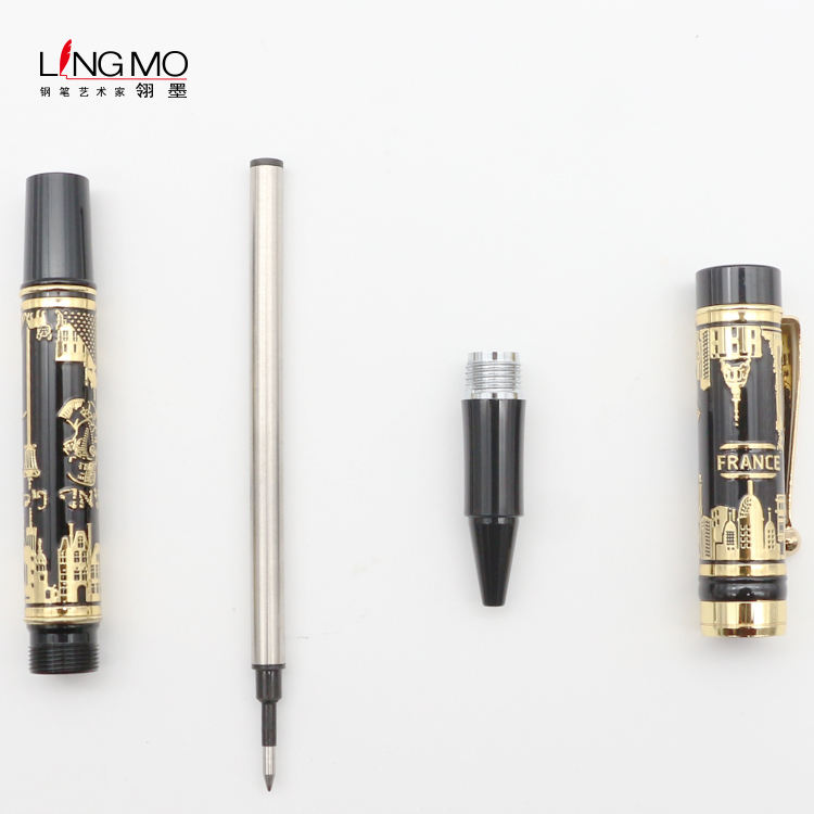 Lingmo High Quality Luxury Roller Ball Pen OEM Design Pen with Custom Logo