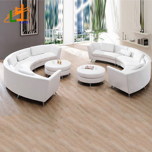 low price genuine leather furniture living room sofa set shaped curved 6 seater sectional sofa