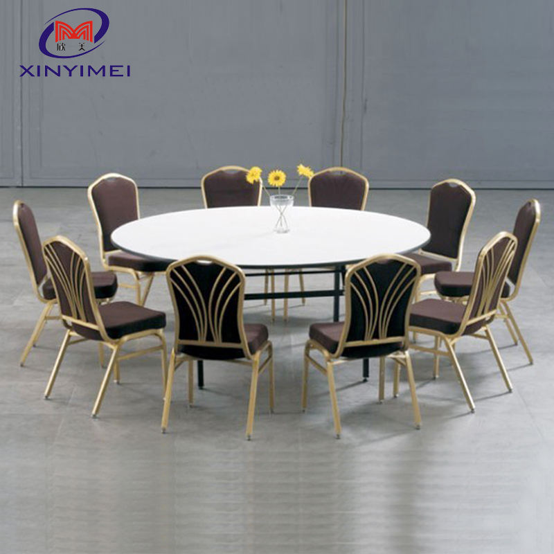 Durable and Exquisite Design Wedding Banquet Hotel Used Round Dinner Table