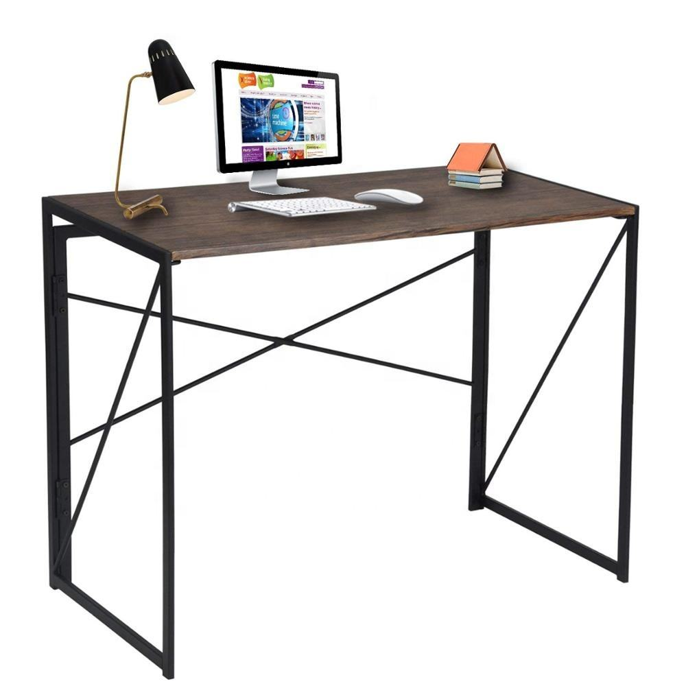 Modern Simple Study Desk Industrial Style Folding Laptop Table for Home Office Writing Computer Desk