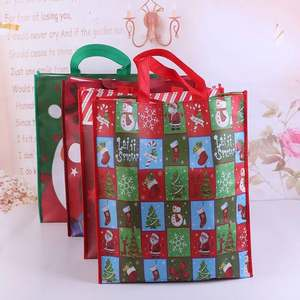 2019 new arrival wholesale santa sack merry christmas gift tote PP non woven shopping candy bag