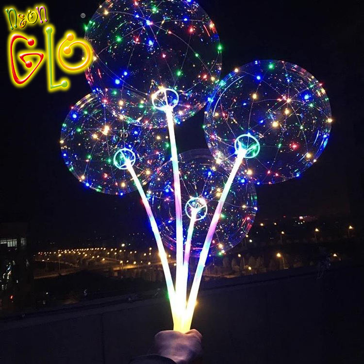 18 inch LED string round bobo balloon for wedding party