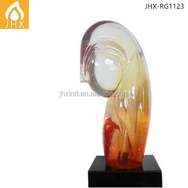 Hotel Decoration Abstract Imitate color glaze Resin Sculpture