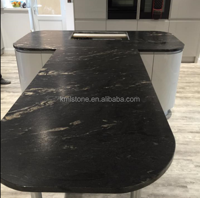Black cosmic Granite for translucent countertop,stone countertop