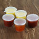 1oz 2oz 3oz 4oz Disposable Hinged Lid PP Sauce Cups BPA Free Microwave Safe