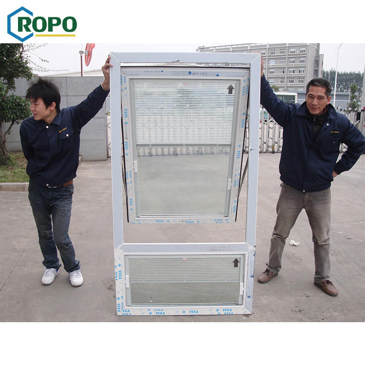 AS2208 Customize UPVC White Top Hung Automatic Casement Window