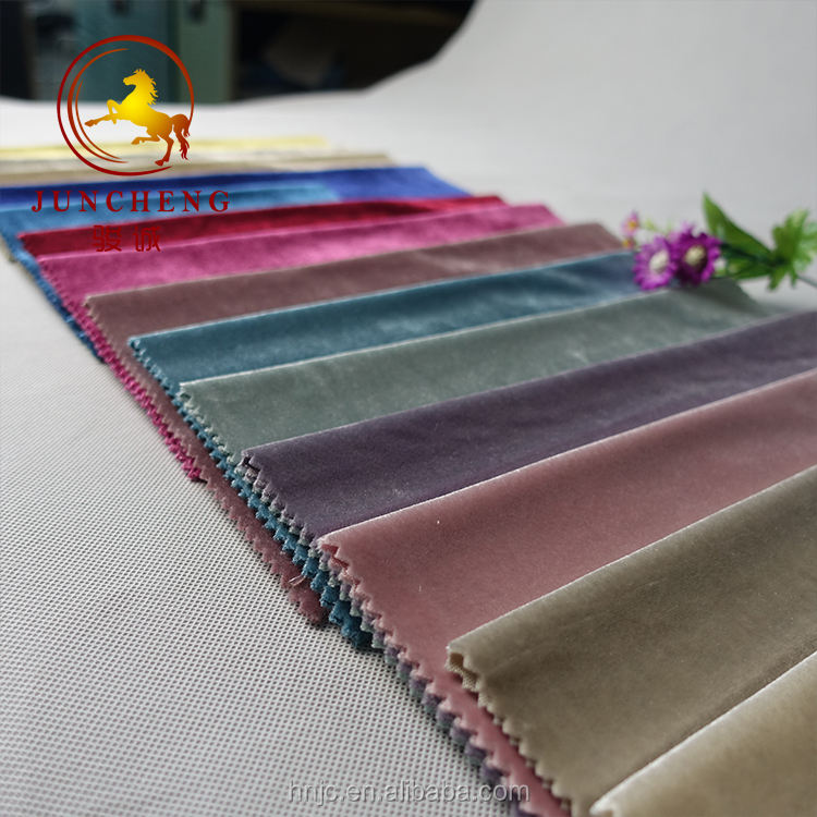 Various color of Italian cotton velvet fabric for clothing/sofa