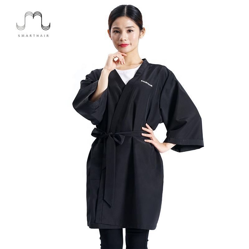 Salon Client Robes Wholesale Polyester Dressing Gown For Premium Spa Bathrobe Kimono Womens Barber Shop Robe
