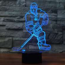 player lamp,Bedside Lamp 7 Colors Change Night Light Optical Illusion Lamps for Kids Lamp As a Gift Ideas for Boys or Kids