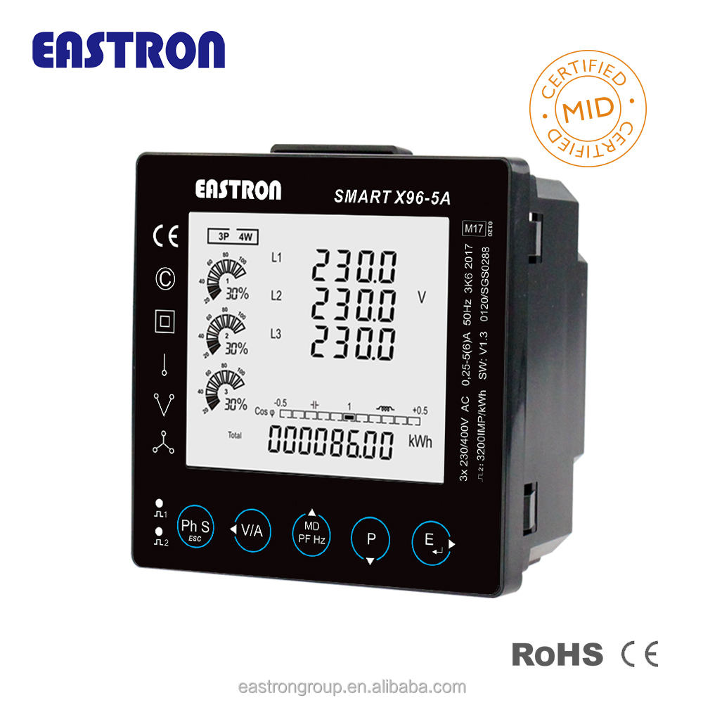Pintar X96 MID B + D RS485 Modbus Digital Multifungsi Power Meter baik harga
