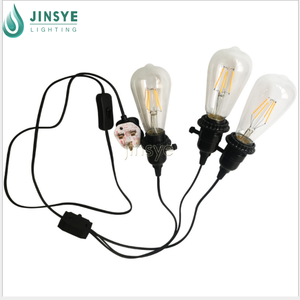 On off/dimmer 스 plug in electric 섬유 cable electrical 선 uk 확장 cord 와 3 빛 fixtures