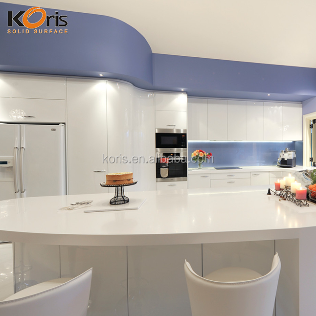 Kitchen countertop Corians 100% Pure Acrylic Solid Surface Sheets