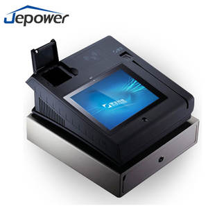 T508 All In One Pos System Credit Card Swipe Machine Cash Register With Printer wifi Bluetooth 3G