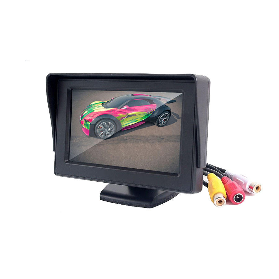 LCD auto monitor met camera 4.3 inch tv monitor voor <span class=keywords><strong>bus</strong></span> vrachtwagens bestelwagens taxi
