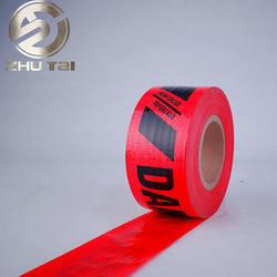 Custom Printed PE Hazard Warning Tape / Plastic Barricade Tapes / HDPE Warning Tape