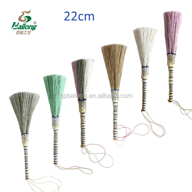 Beautiful handmade office use home decor small craft raw material grass decorative broom