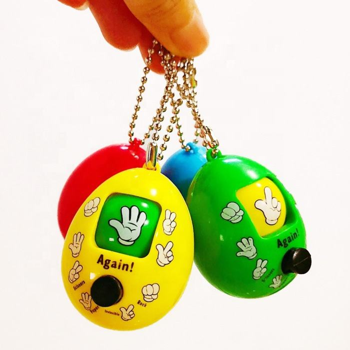 Whosale face change finger-guessing mini toy game keychain capsule toy for kids