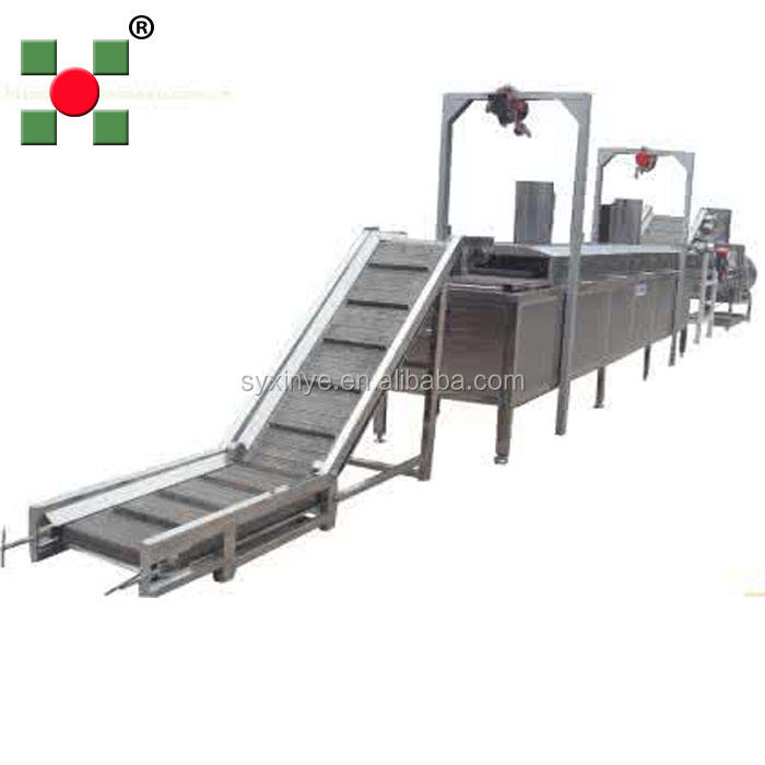 Commercial Potato Processing Production Line Potato Chips Fryer Slicer Machine