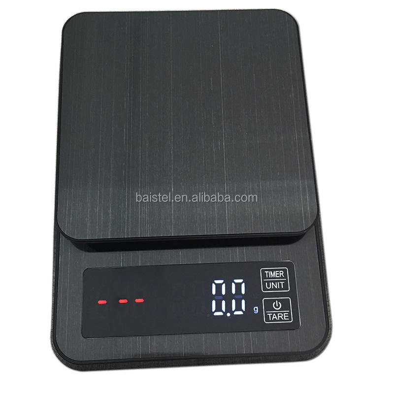 Digital Scale with Timer and USB charge 3kg 0.1g Electrinoic Kitchen Scale Baking Table Coffee Scale