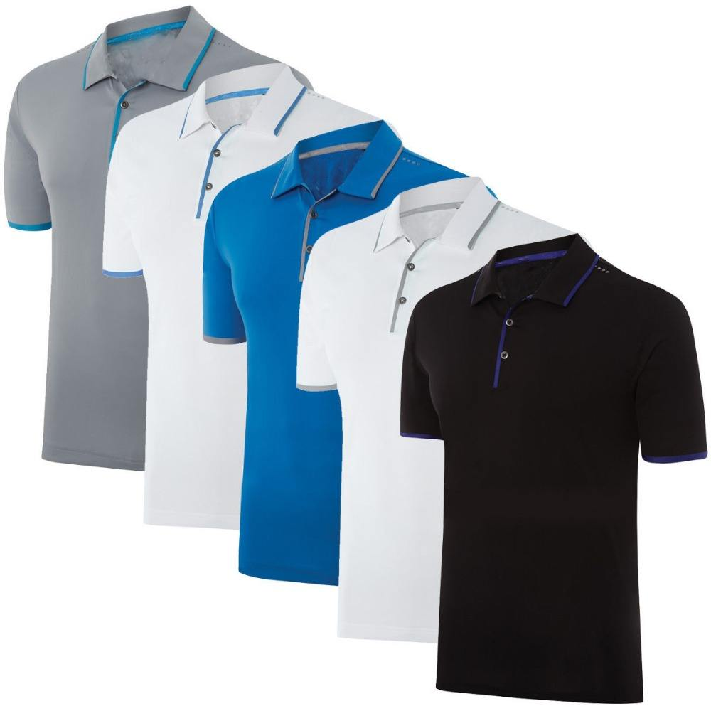 Chine en gros sport sec fit hommes t-shirts en polyester personnalisé camisa polo masculina