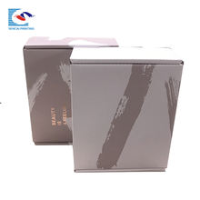 Custom strong recycled cosmetic corrugated beauty shipping package box