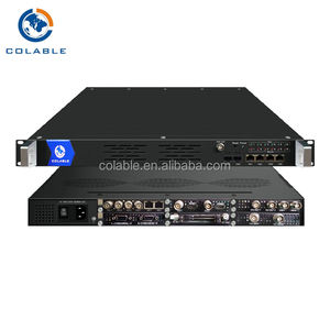 Platform Mpeg2 Encoder Digital 4/8/16/20/24 saluran cvbs ke IP RTP MPTS SPTS OUT DP501-COL104A