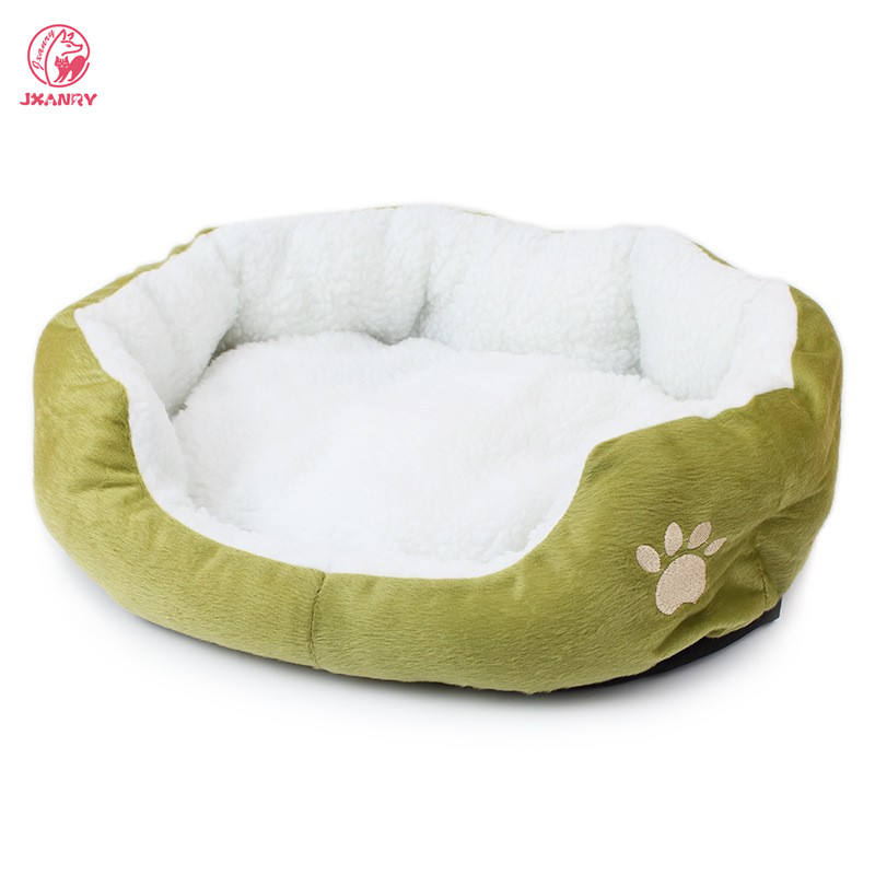 JXANRY Wholesale Multicolor Pet Bed Washable Cat Sofa Dog Bed Foldable Bed for Large Dog with Paw Pattern Pet Supplier