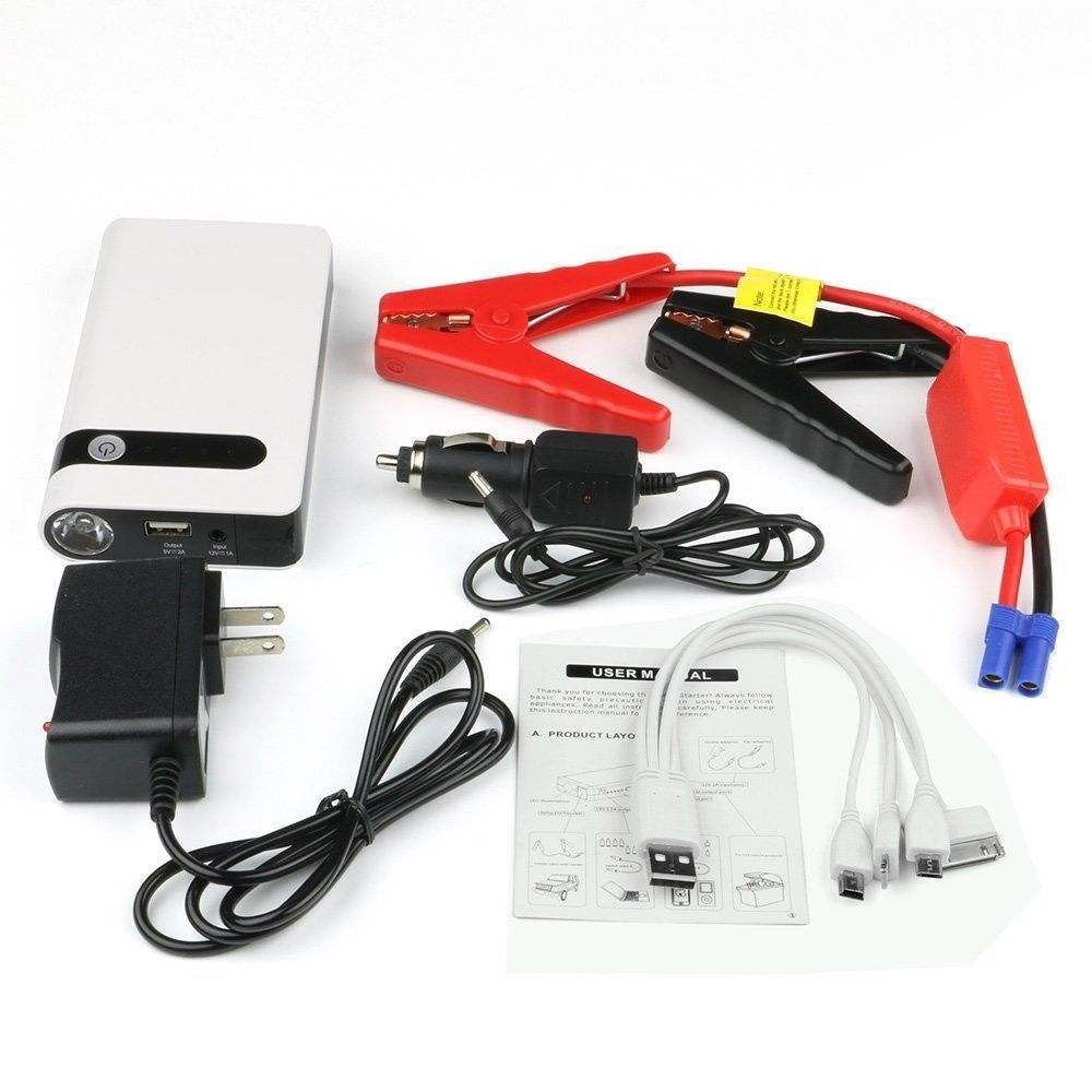 Super Slim 12V Car Jump Starter Multi Function Vehicle Power Bank Car Jump Starter for Emergency