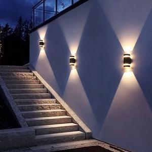 Superseptember new design outdoor waterproof 6w IP65 up down double head wall mounted led exterior wall light lamp