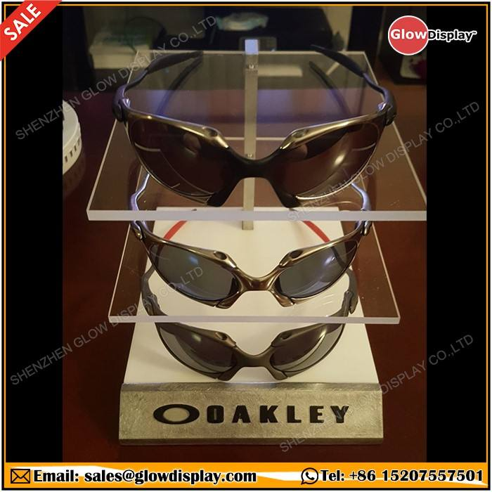 GlowDisplay Acrylic Oakley Sunglasses Triple Display Stand