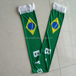 stock 2018 world cup Custom knitted polyester brazil footbal