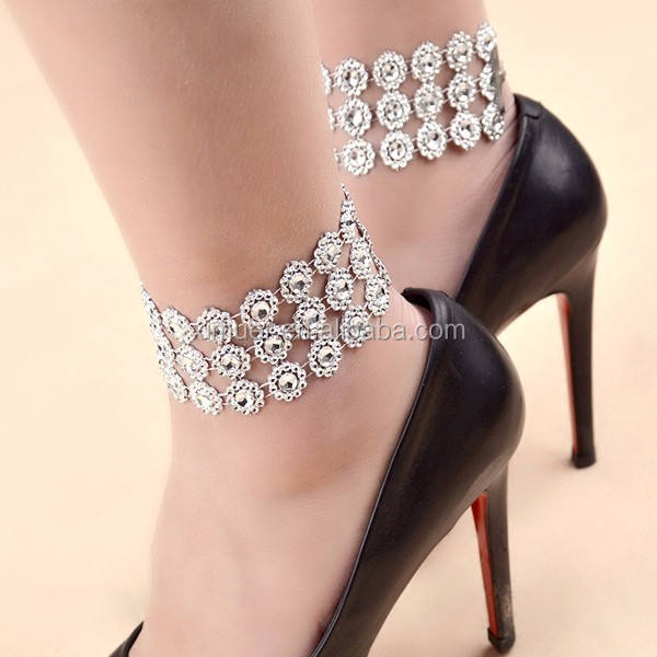 Hottest silver body chain ankle chain anklet jewelry